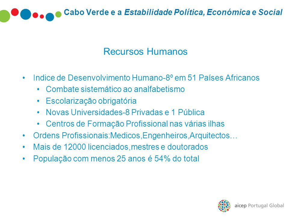 Cabo Verde e a Estabilidade Política, Económica e Social