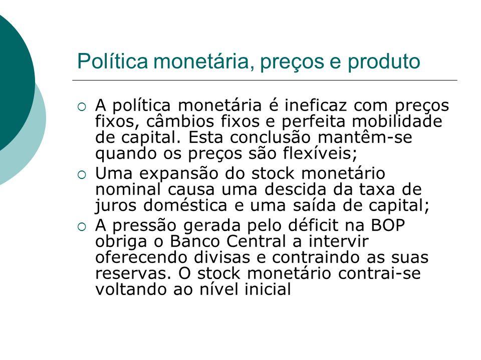 Política monetária, preços e produto