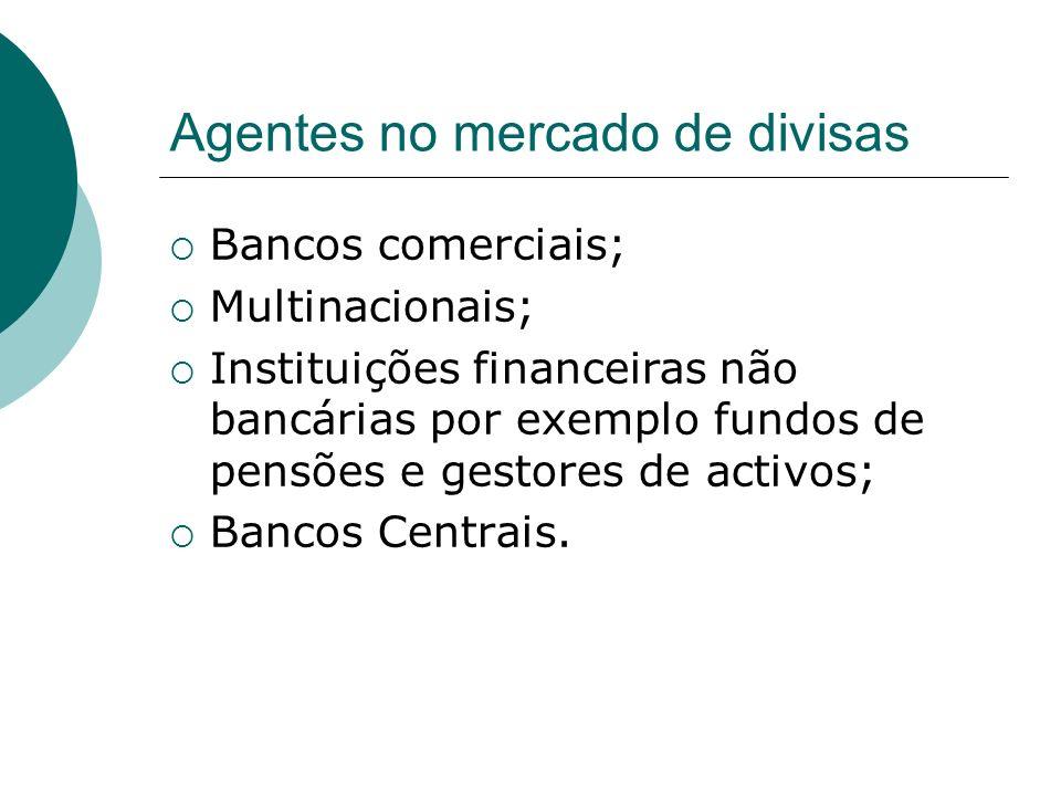 Agentes no mercado de divisas