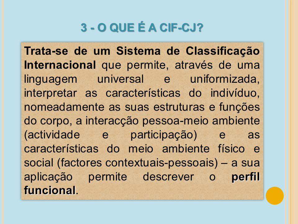 3 - O QUE É A CIF-CJ