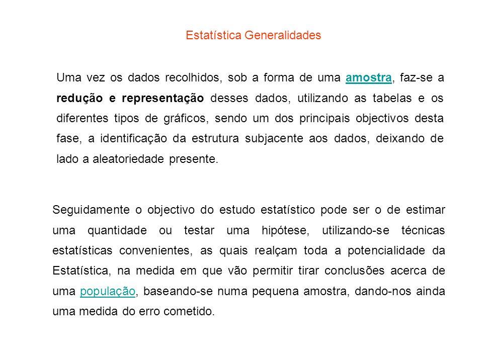 Estatística Generalidades