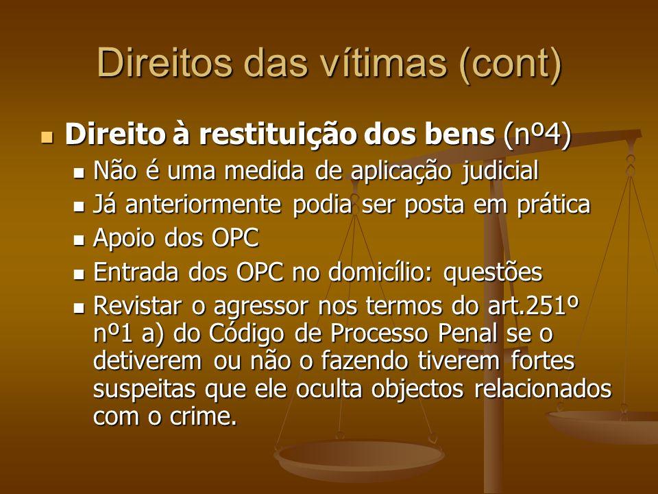 Direitos das vítimas (cont)
