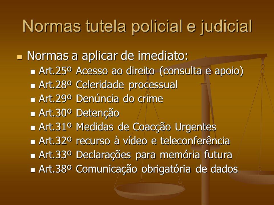 Normas tutela policial e judicial