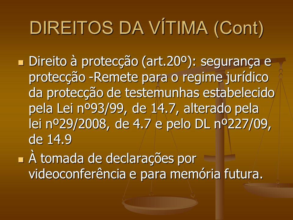DIREITOS DA VÍTIMA (Cont)