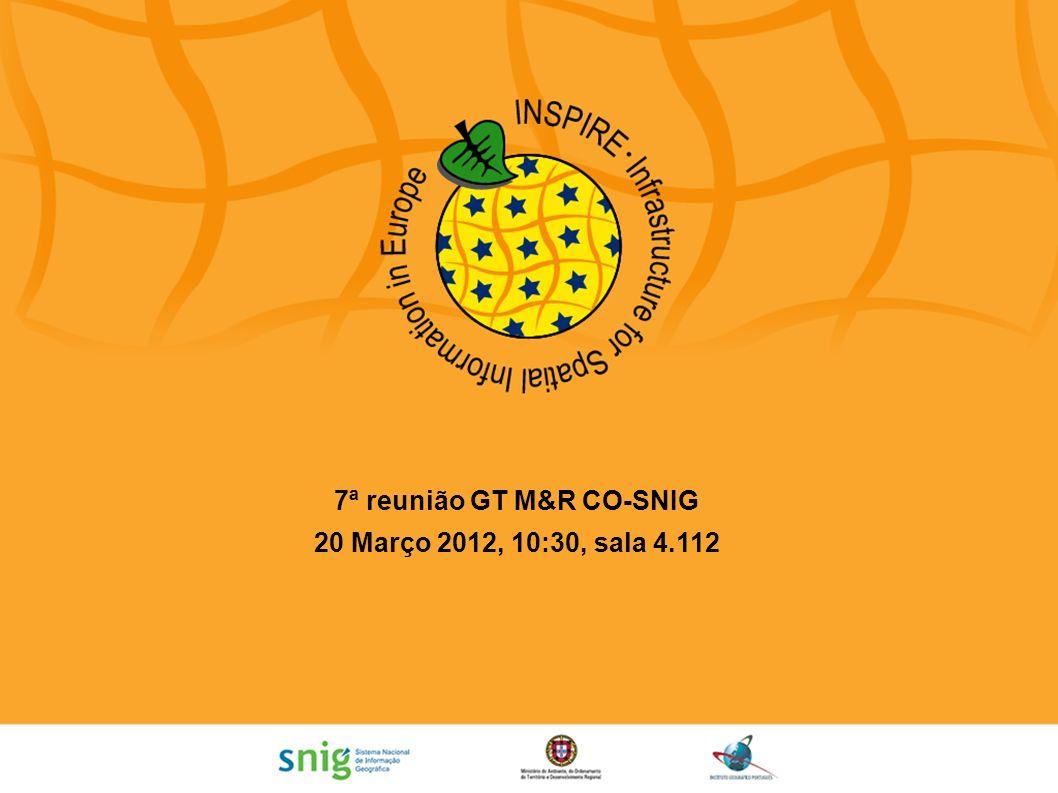 7ª reunião GT M&R CO-SNIG
