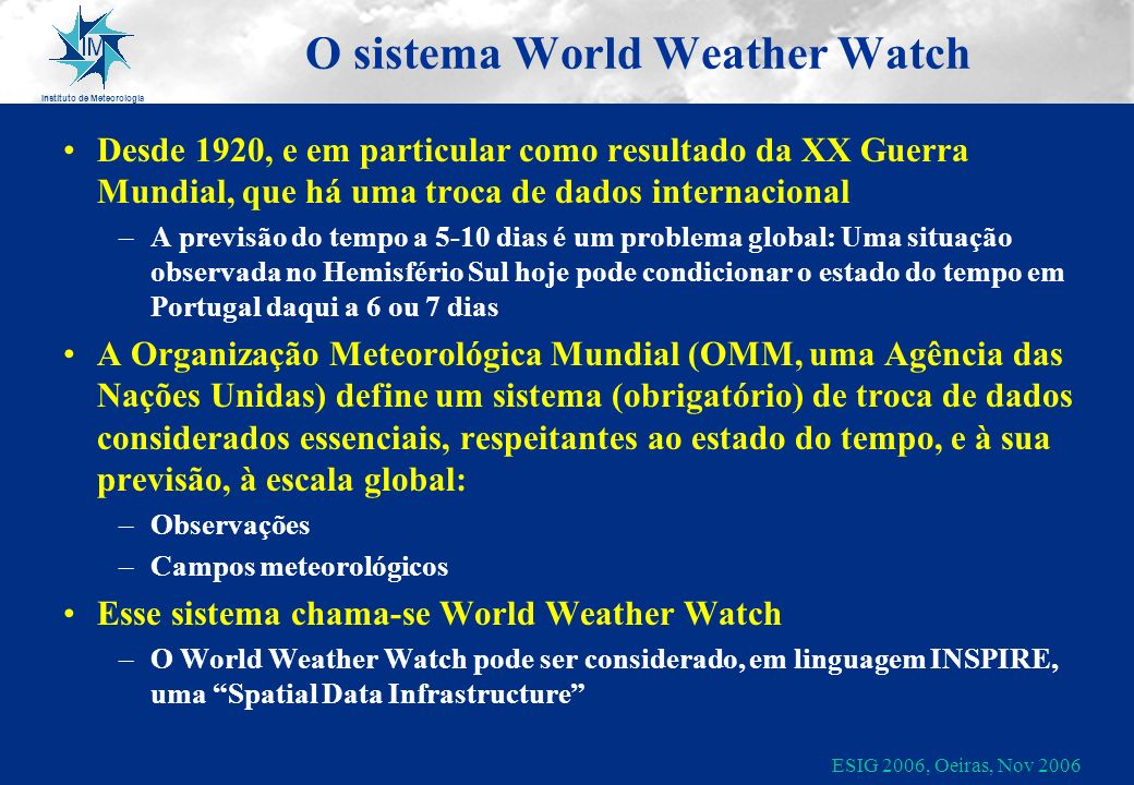 O sistema World Weather Watch