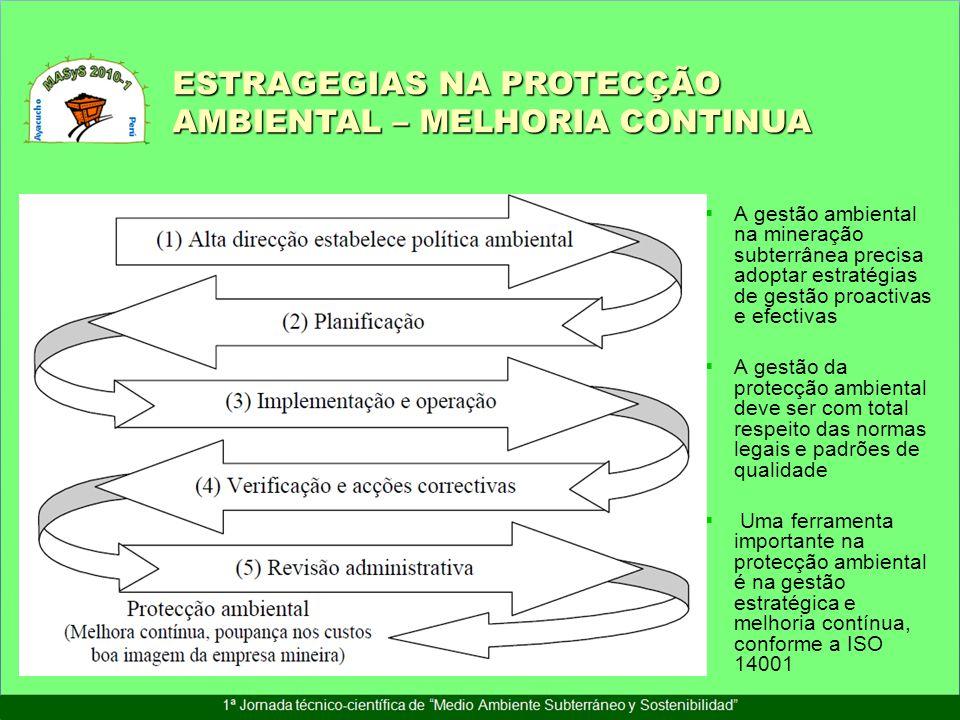 ESTRAGEGIAS NA PROTECÇÃO AMBIENTAL – MELHORIA CONTINUA