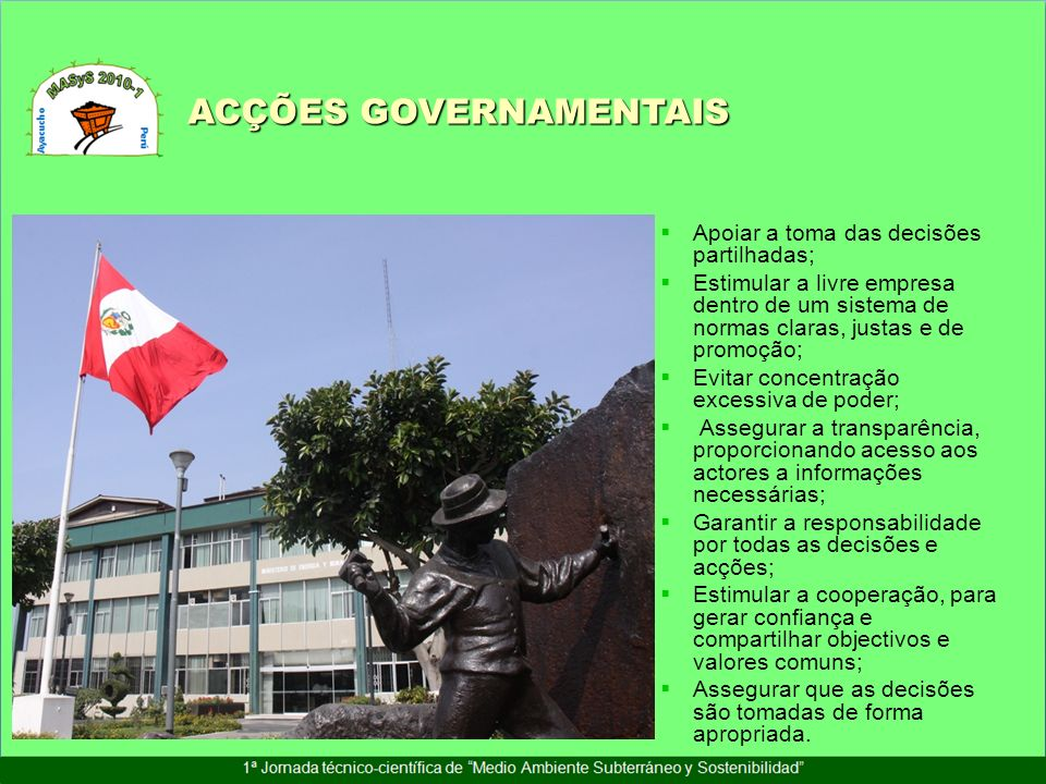 ACÇÕES GOVERNAMENTAIS