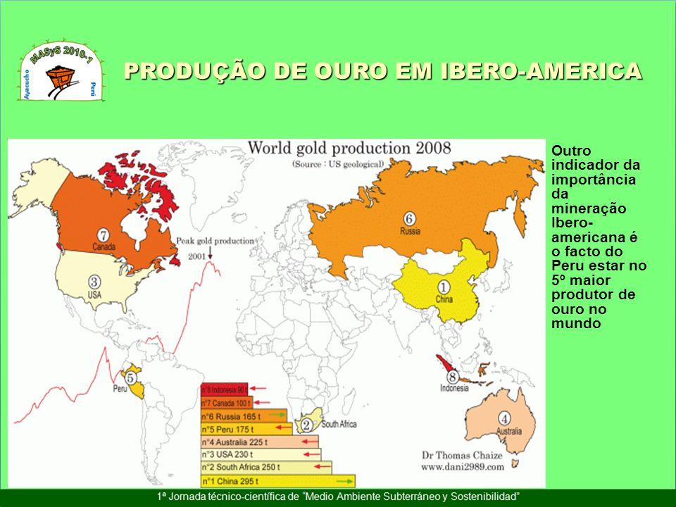PRODUÇÃO DE OURO EM IBERO-AMERICA