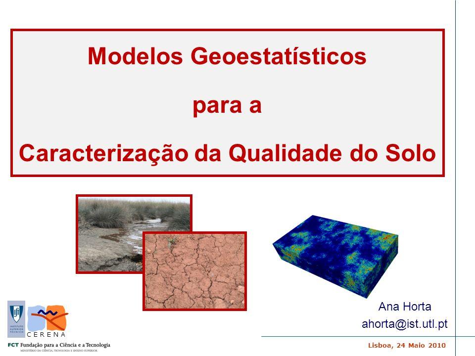 Modelos Geoestatísticos Caracterização da Qualidade do Solo