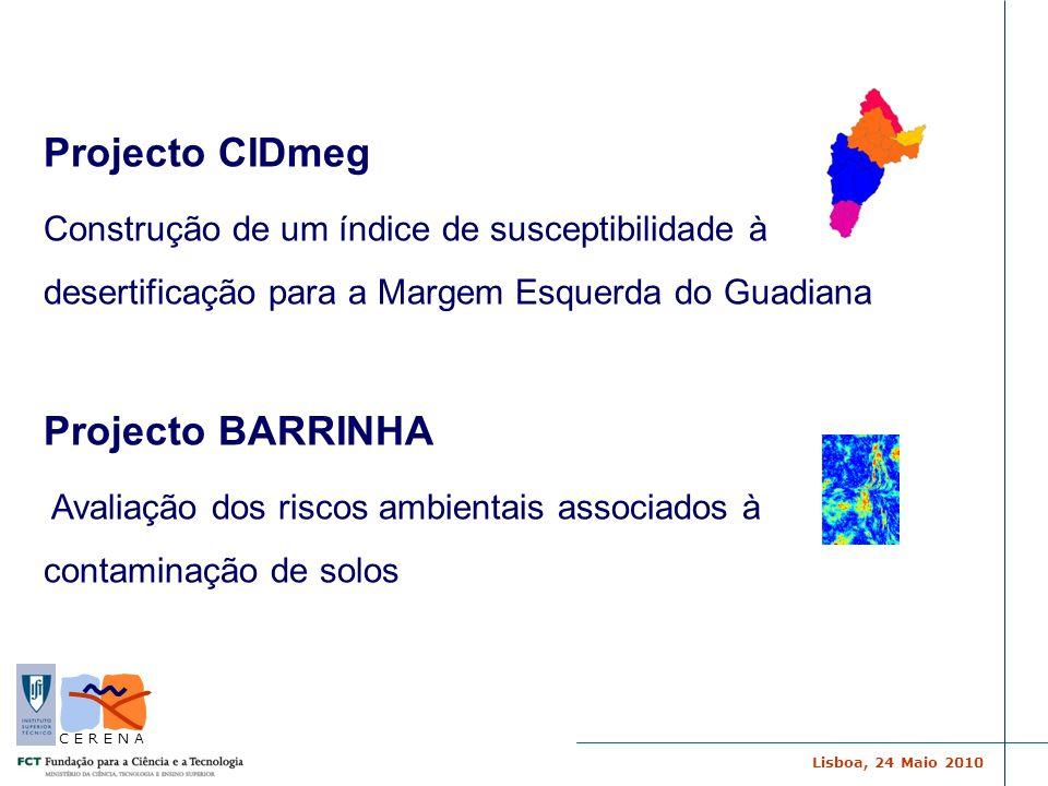 Projecto CIDmeg Projecto BARRINHA