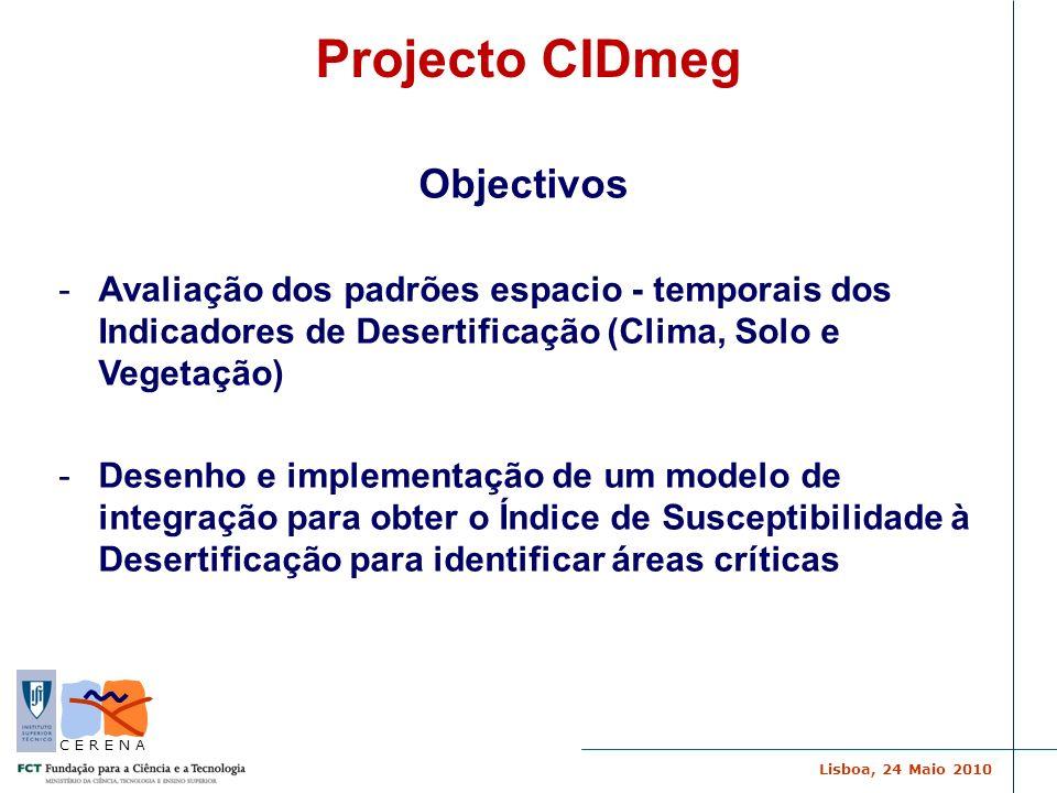 Projecto CIDmeg Objectivos