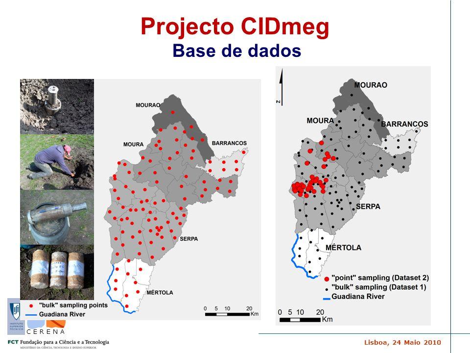 Projecto CIDmeg Base de dados Por horizontes