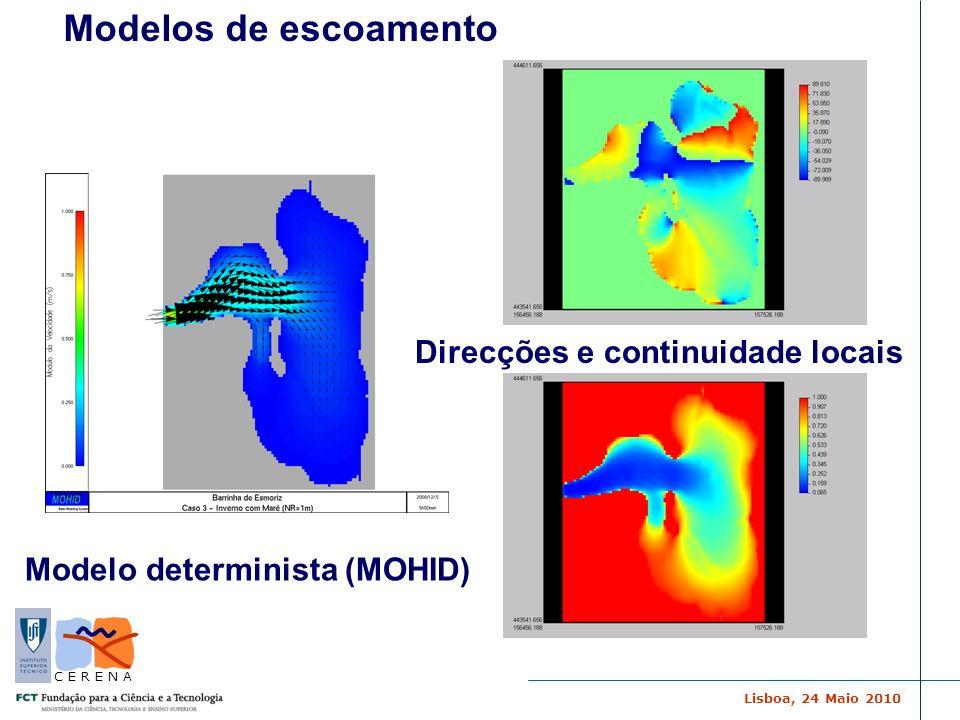 Modelos de escoamento Direcções e continuidade locais
