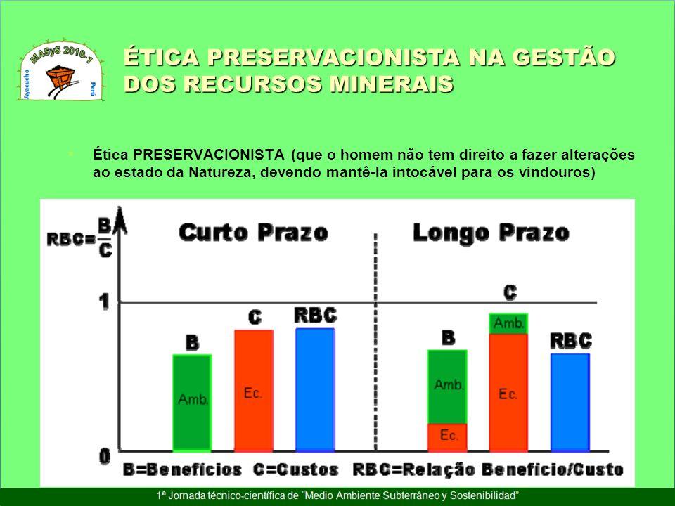 ÉTICA PRESERVACIONISTA NA GESTÃO DOS RECURSOS MINERAIS