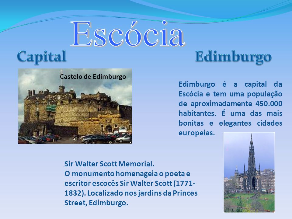 Escócia Capital Edimburgo