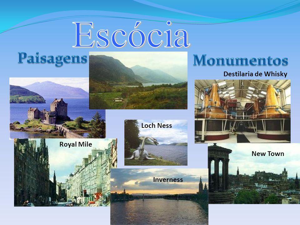 Escócia Paisagens Monumentos Destilaria de Whisky Loch Ness Royal Mile