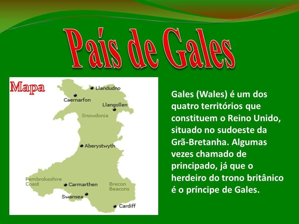 País de Gales Mapa.