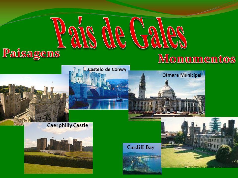 País de Gales Paisagens Monumentos Caerphilly Castle Castelo de Conwy