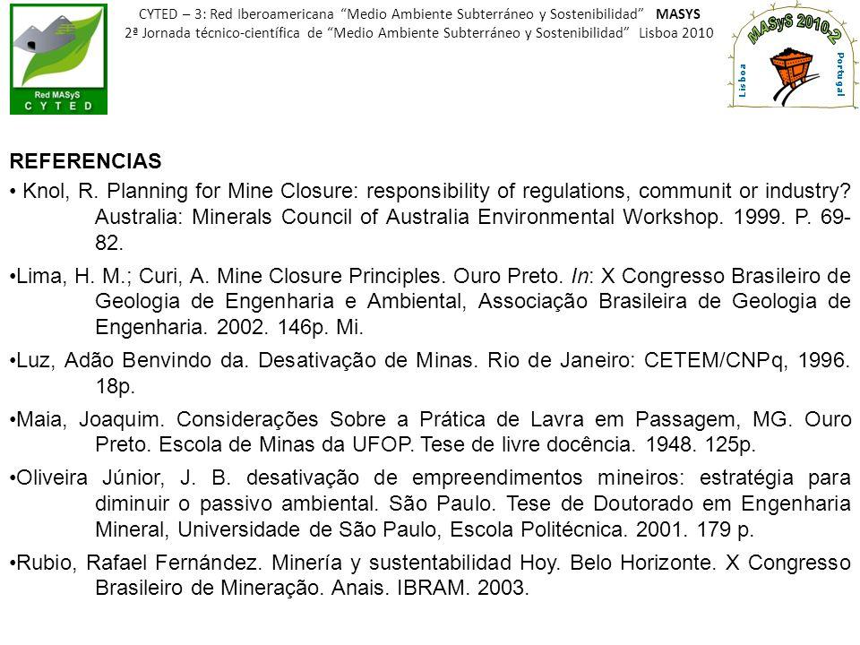 CYTED – 3: Red Iberoamericana Medio Ambiente Subterráneo y Sostenibilidad MASYS