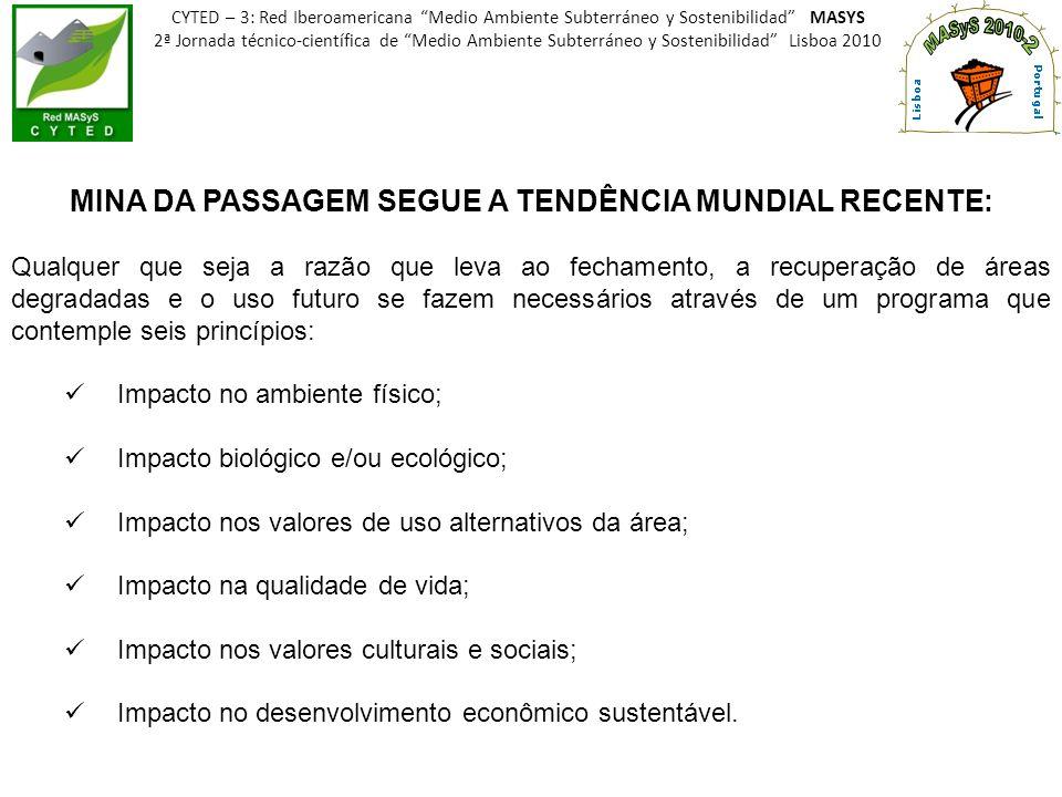 MINA DA PASSAGEM SEGUE A TENDÊNCIA MUNDIAL RECENTE: