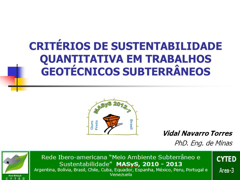 Vidal Navarro Torres PhD. Eng. de Minas