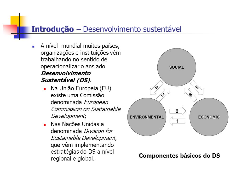 Introdução – Desenvolvimento sustentável