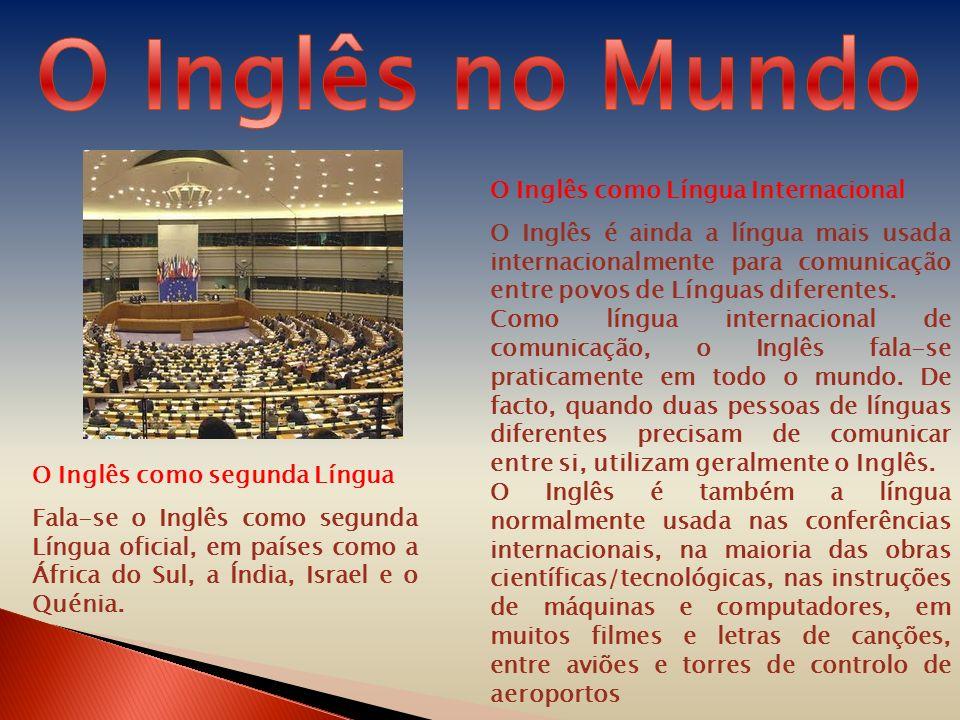 O Inglês no Mundo O Inglês como Língua Internacional