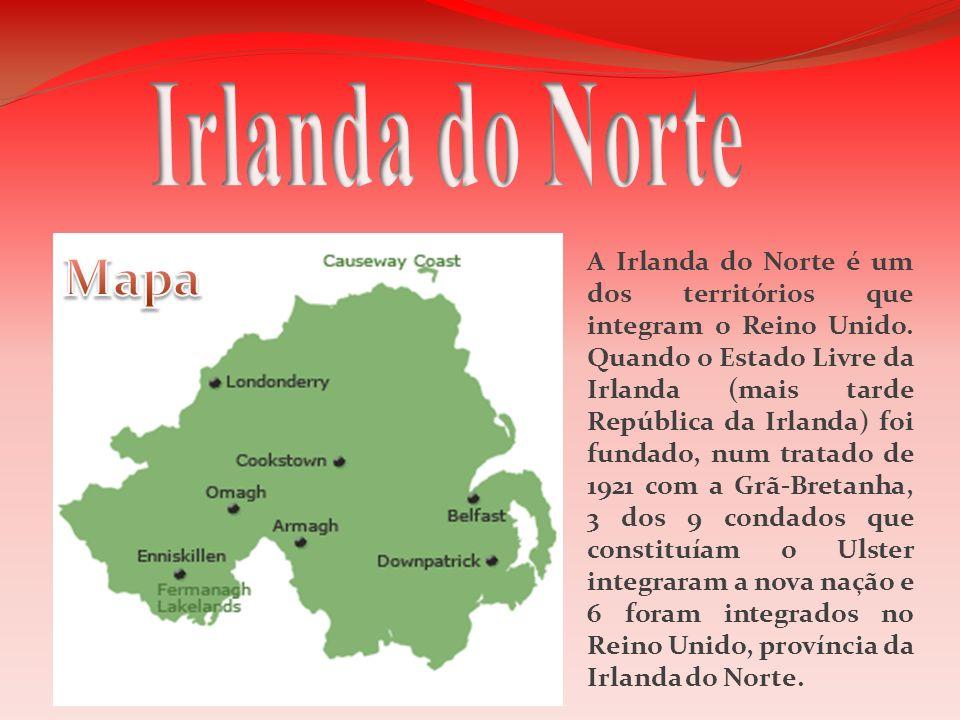 Irlanda do Norte Mapa.