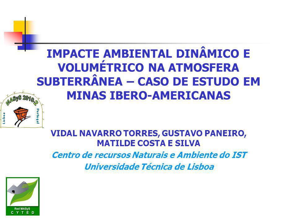 IMPACTE AMBIENTAL DINÂMICO E VOLUMÉTRICO NA ATMOSFERA SUBTERRÂNEA – CASO DE ESTUDO EM MINAS IBERO-AMERICANAS