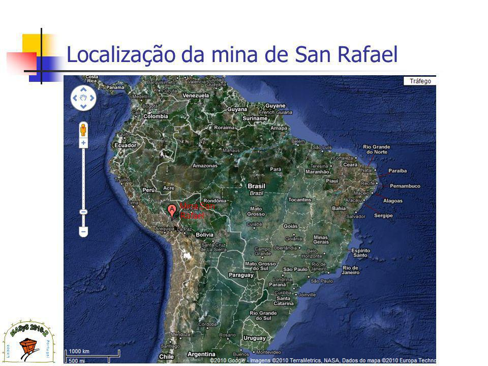 Localização da mina de San Rafael