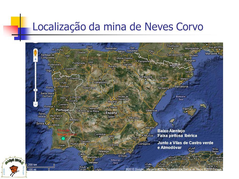 Localização da mina de Neves Corvo