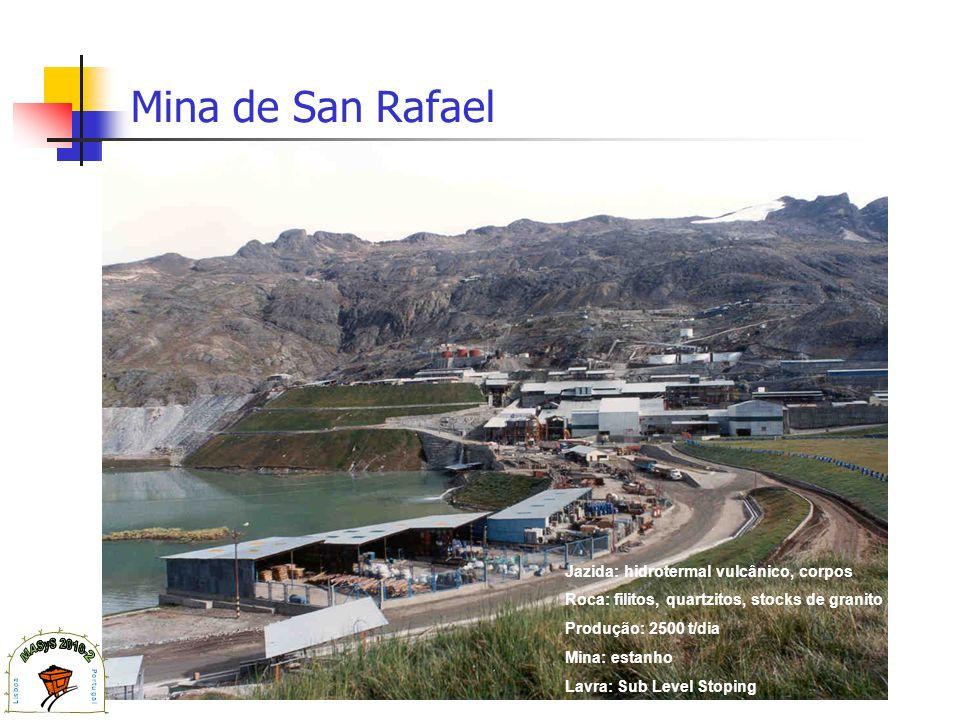 Mina de San Rafael Jazida: hidrotermal vulcânico, corpos