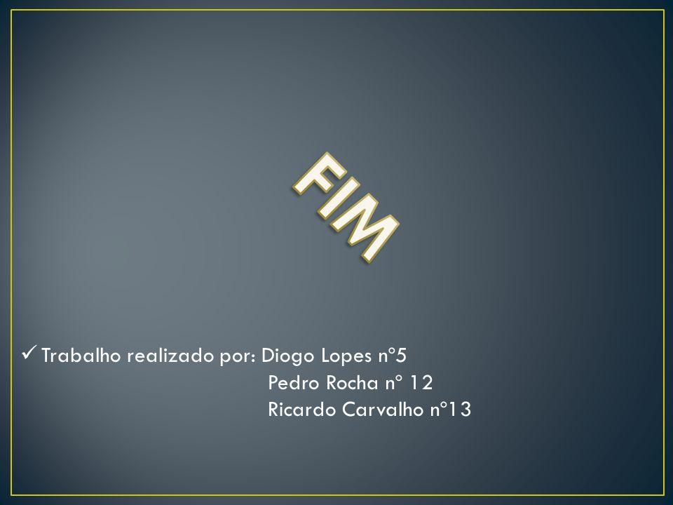 FIM Trabalho realizado por: Diogo Lopes nº5 Pedro Rocha nº 12