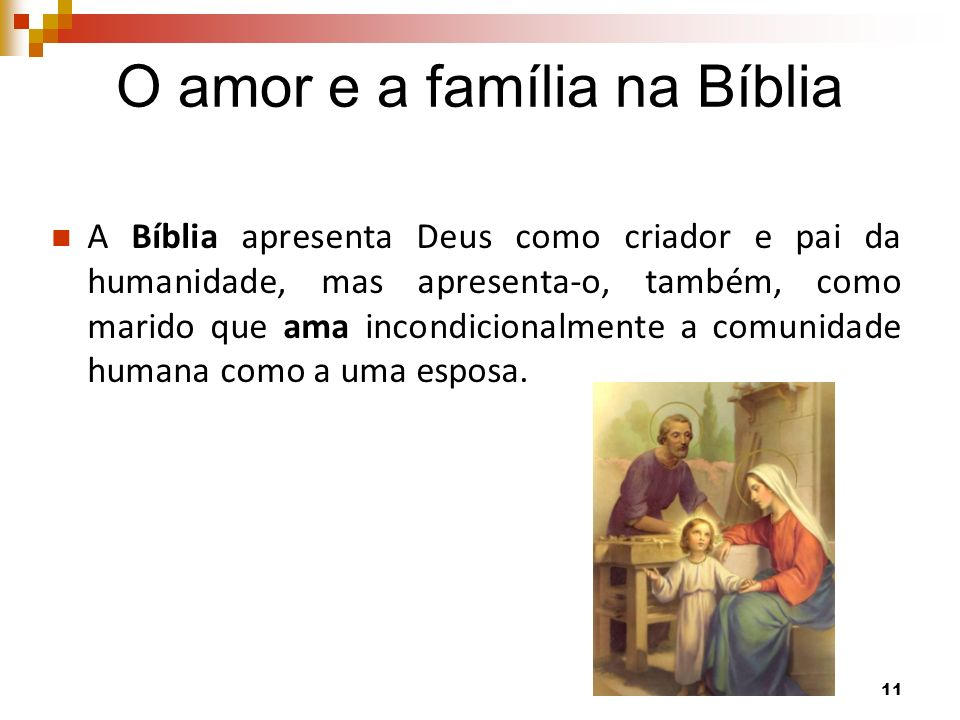 O amor e a família na Bíblia