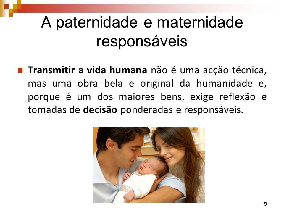 A paternidade e maternidade responsáveis