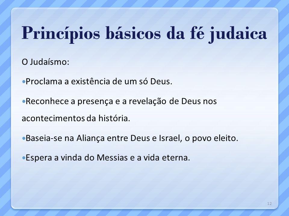 Princípios básicos da fé judaica