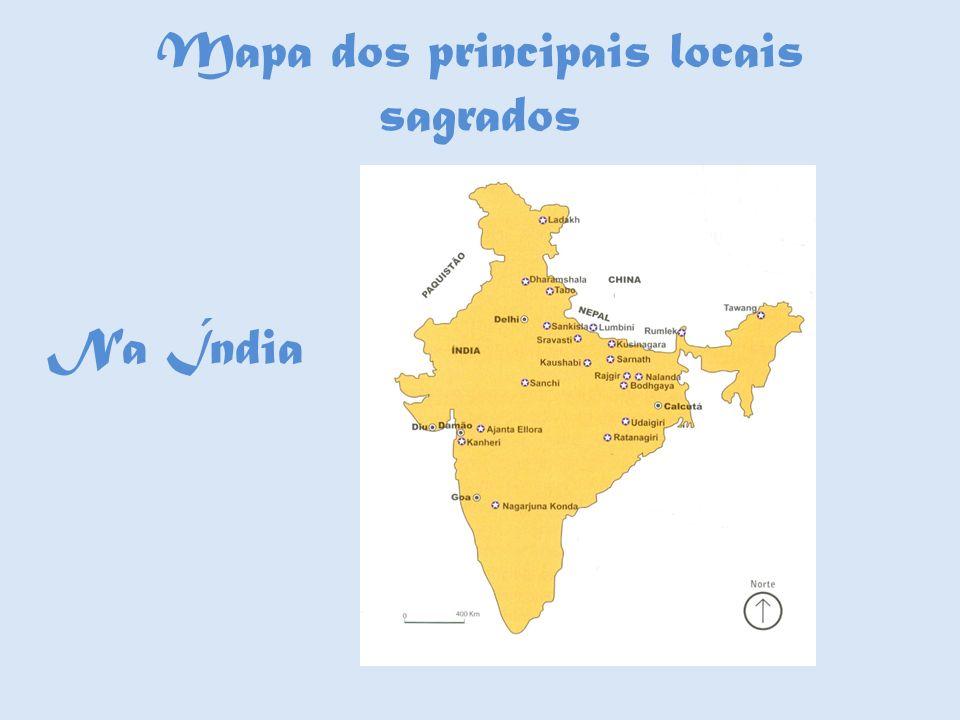 Mapa dos principais locais sagrados