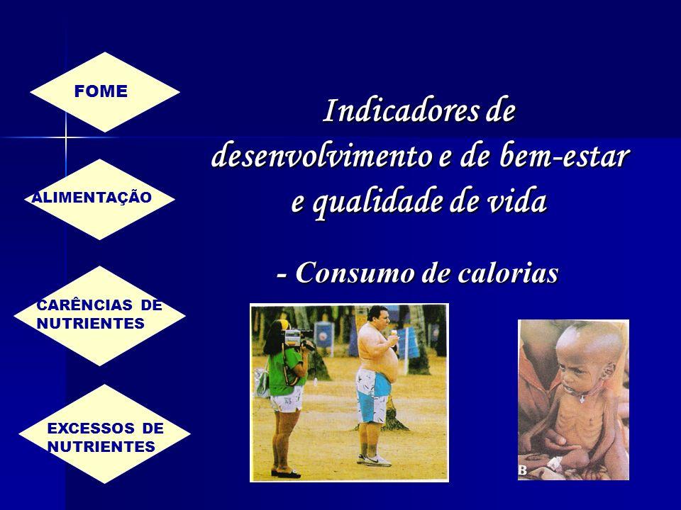 Indicadores de desenvolvimento e de bem-estar e qualidade de vida