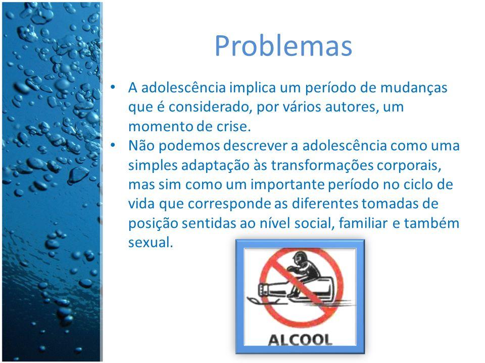 Problemas A adolescência implica um período de mudanças que é considerado, por vários autores, um momento de crise.