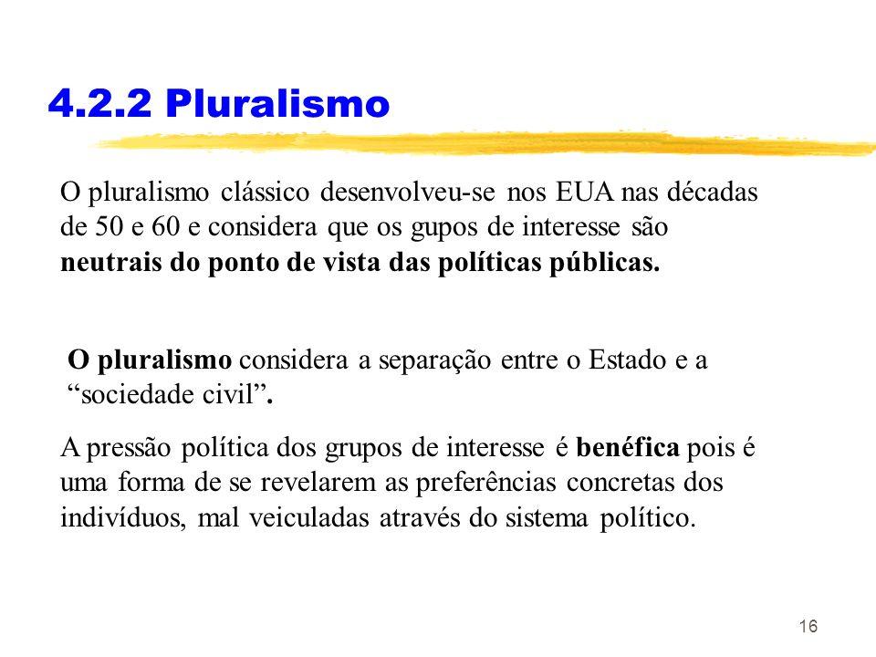 4.2.2 Pluralismo