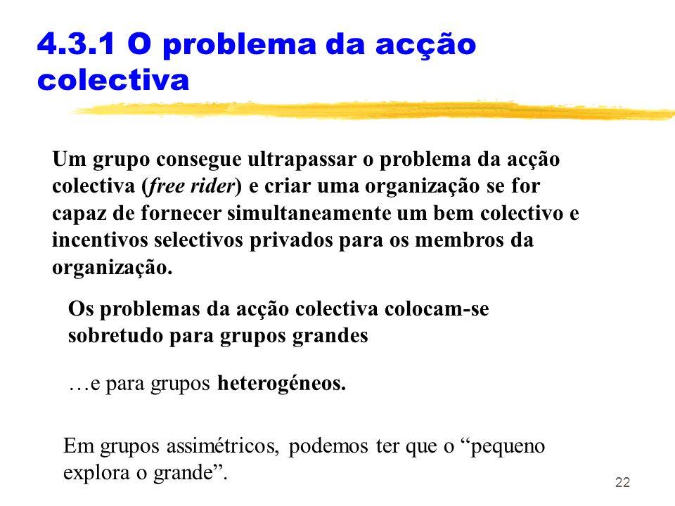 4.3.1 O problema da acção colectiva