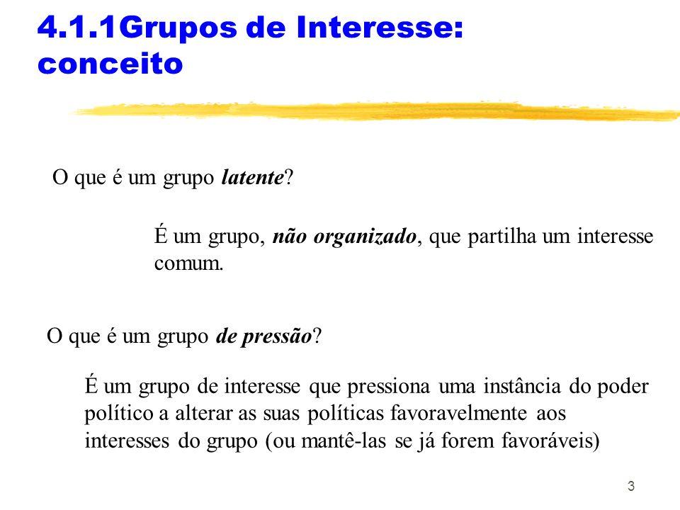 4.1.1Grupos de Interesse: conceito