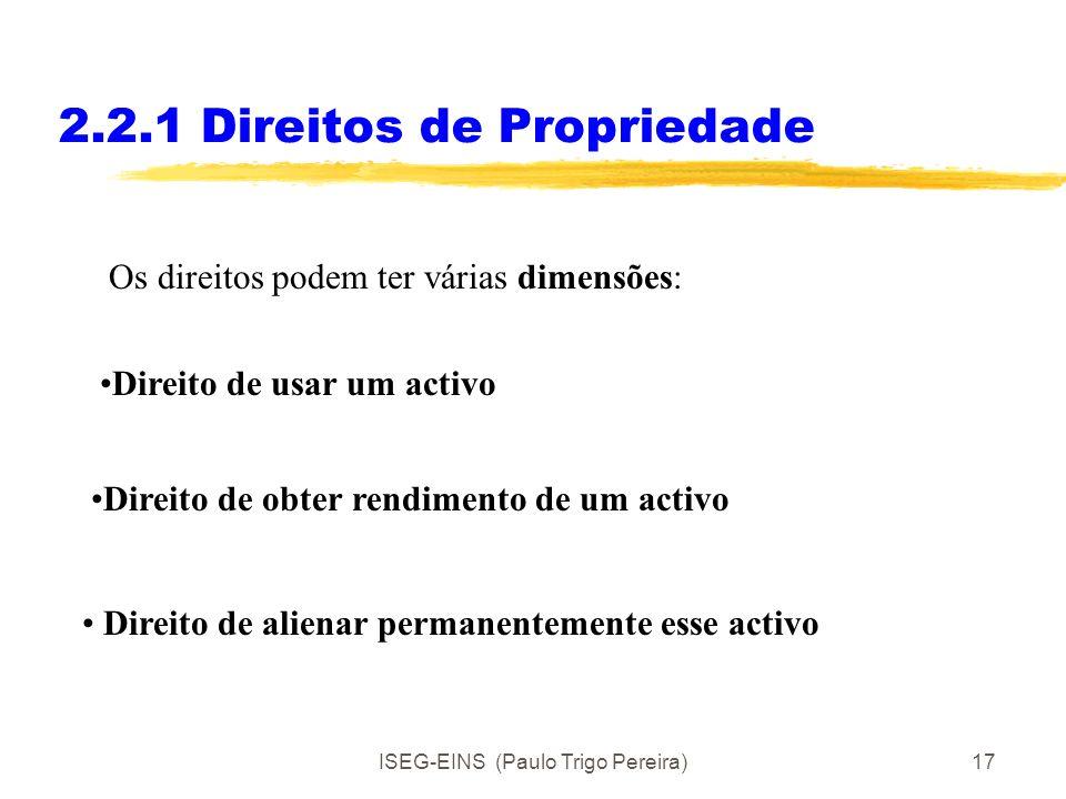 2.2.1 Direitos de Propriedade