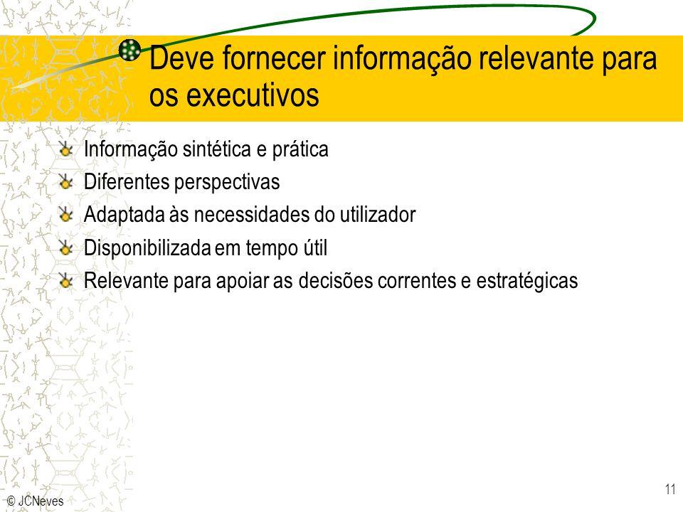Deve fornecer informação relevante para os executivos