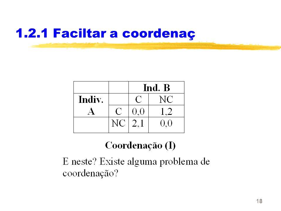 1.2.1 Faciltar a coordenaç