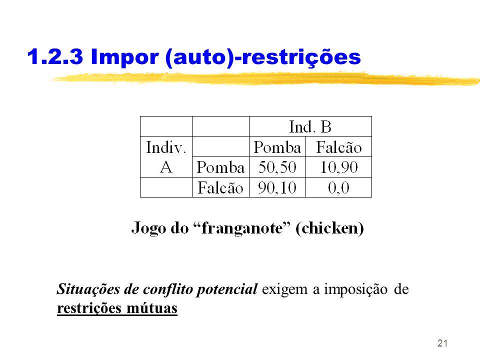 1.2.3 Impor (auto)-restrições