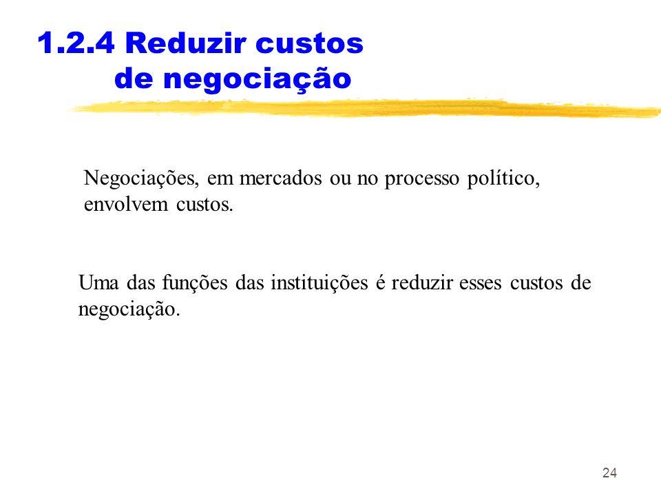 1.2.4 Reduzir custos de negociação