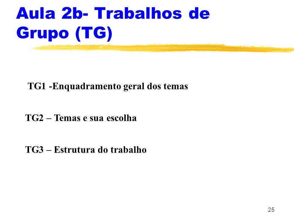 Aula 2b- Trabalhos de Grupo (TG)
