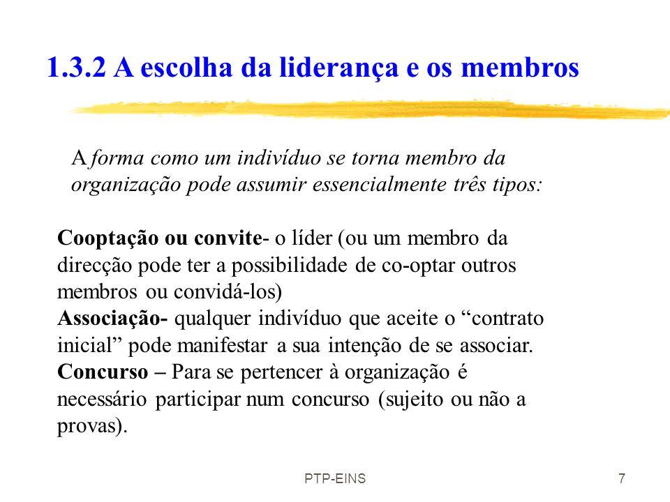1.3.2 A escolha da liderança e os membros